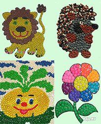 Мозаика из пластилина – развиваем творчество ребенка